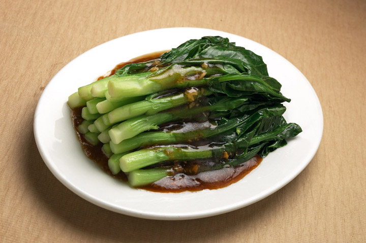 Stir fried chinese broccoli with oyster sauce