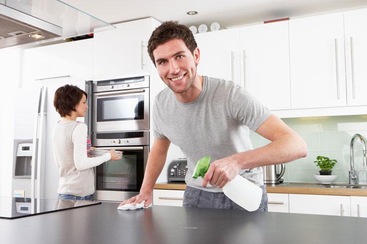 Cleaning Modern Kitchen