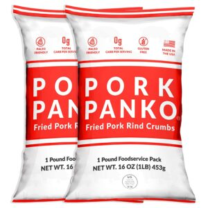 Pork Panko - 0 Carb Pork Rind Breadcrumbs - Keto and Paleo Friendly, Naturally Gluten-Free