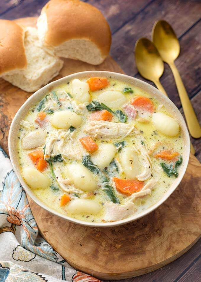 Instant Pot Creamy Chicken Gnocchi Soup