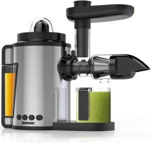 DORINI 2 in 1 Masticating Juicer & Citrus Juicer