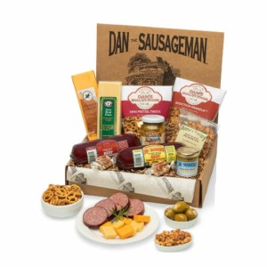 Dan the Sausageman's Smoked Summer Sausage and Wisconsin Cheeses