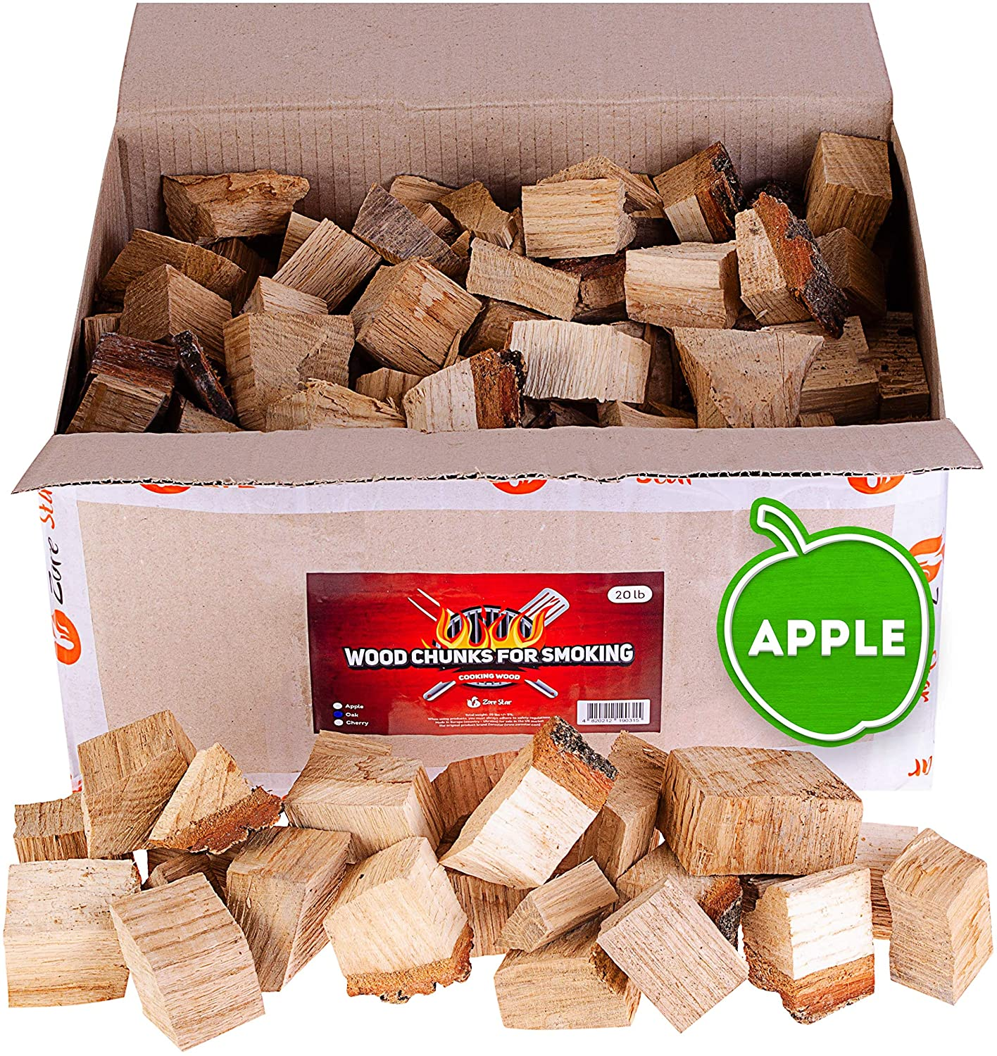 Zorestar applewood logs for BBQ and smoking
