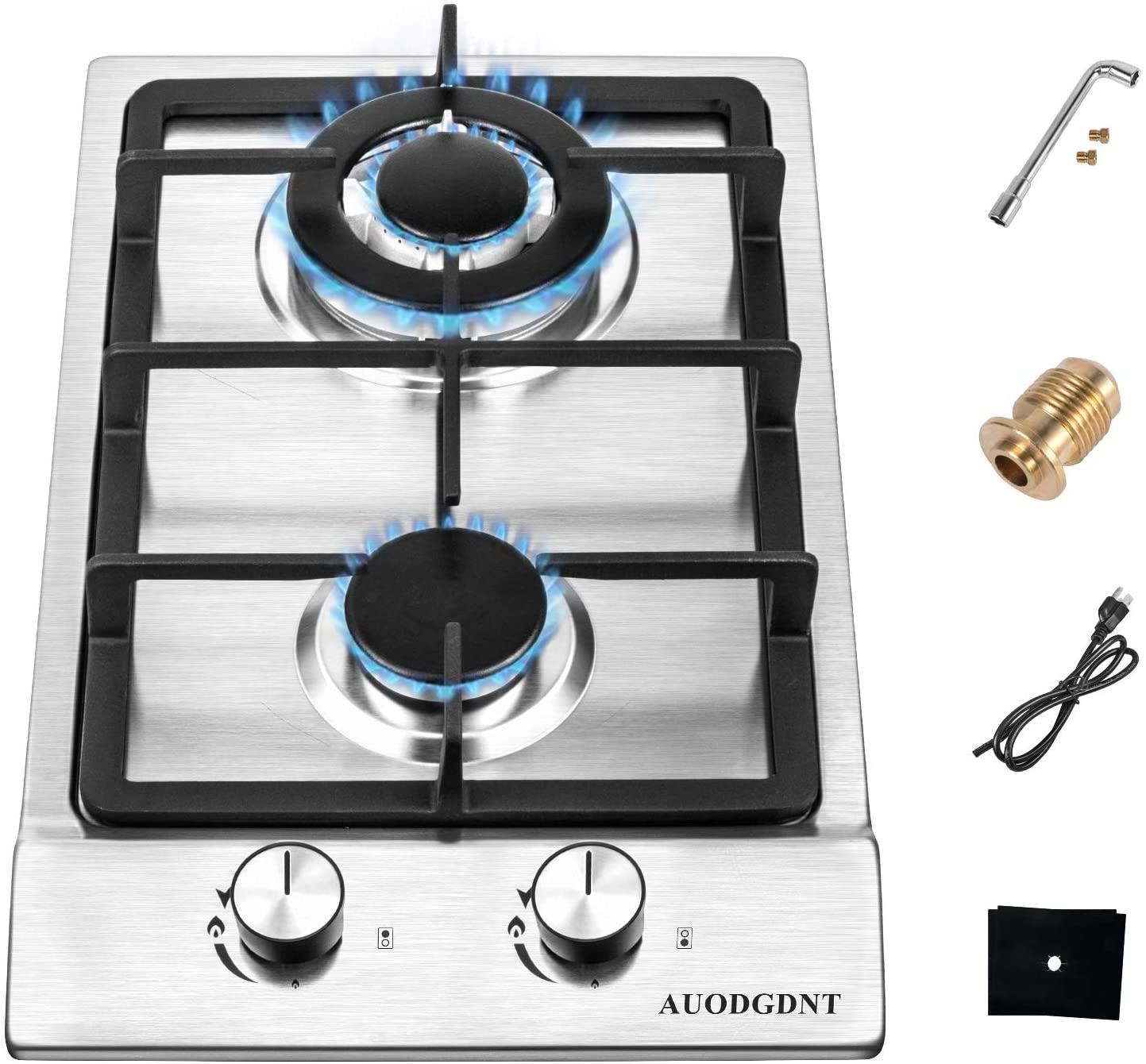 AUODGDNT Gas Stove Cooktop with Double Burners