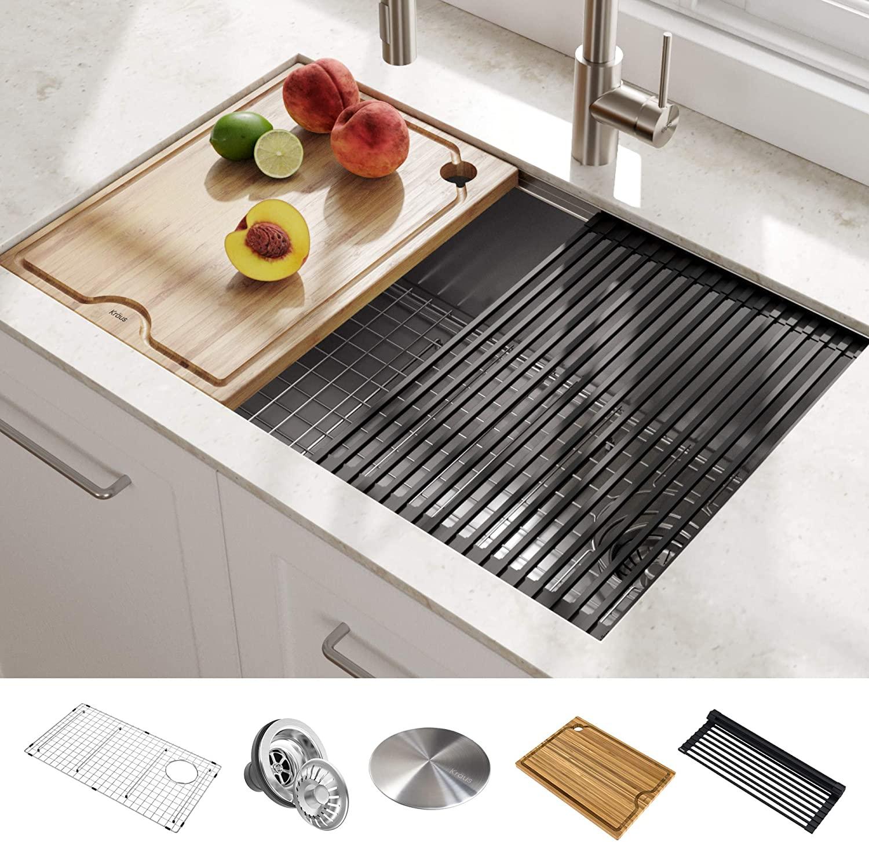 KRAUS 30-Inch Stainless Steel Undermount Kitchen Sink