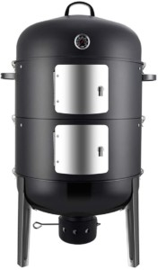 Realcook Charcoal BBQ Smoker Grill-Best Smoker Grill Combo