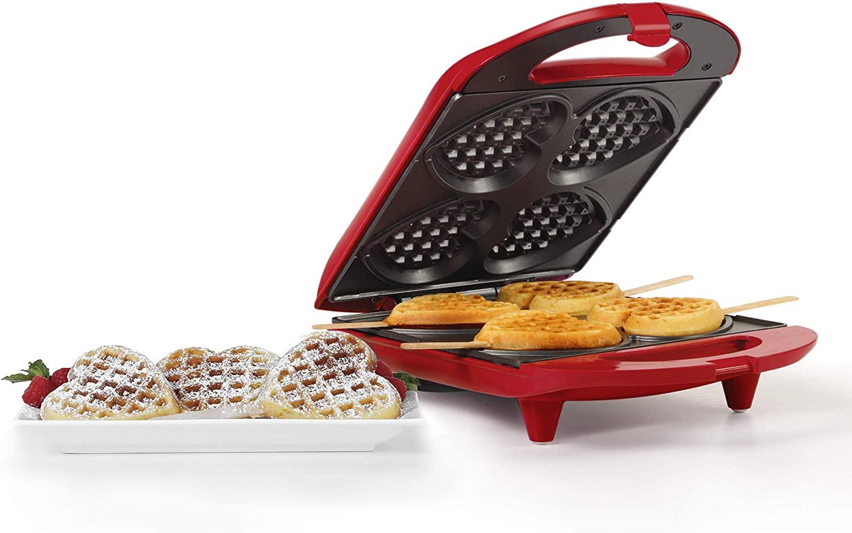 Holstein Housewares HF-09031R Non-Stick Heart Waffle Maker