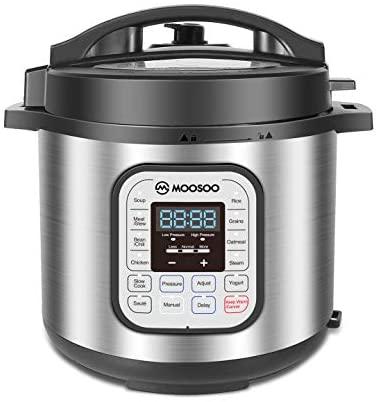 MOOSOO 12 in 1 Electric Pressure Multi Cooker