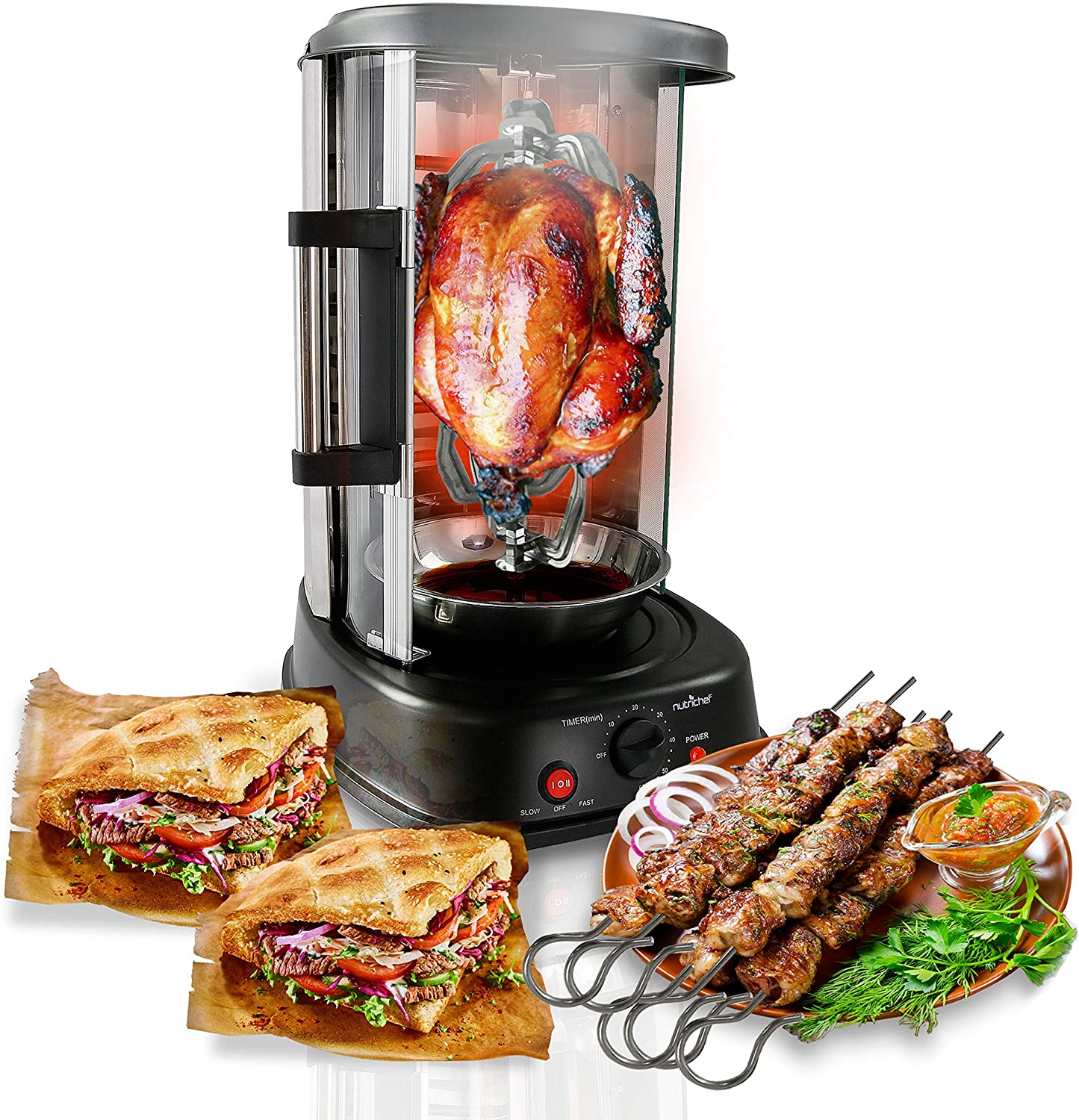 NutriChef Vertical Rotating Oven - Rotisserie