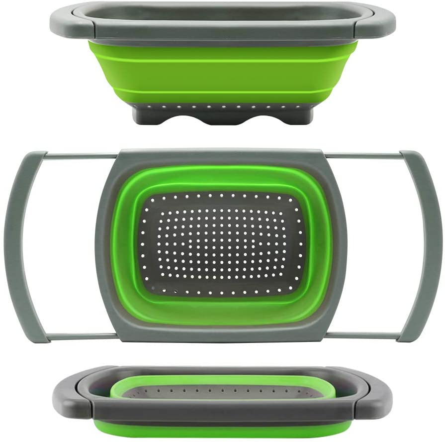 Qimh Silicone Collapsible Colander