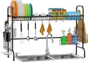 GSlife Rustproof kitchen over sink shelf utensils holder